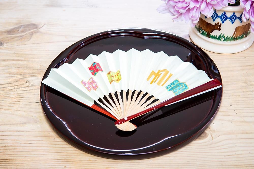 Zusetsu furoshiki store wrapping cloth fan Japan