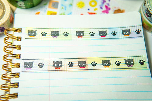 Washi Tape from Japan - Black Cat