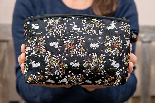 Kyoto Pouch - Black Sienna Gold Hare