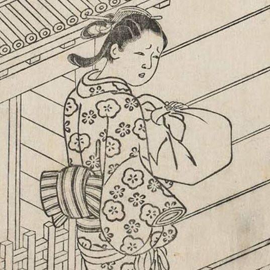 Japanese art, print, ukiyoe, furoshiki wrap, Zusetsu store