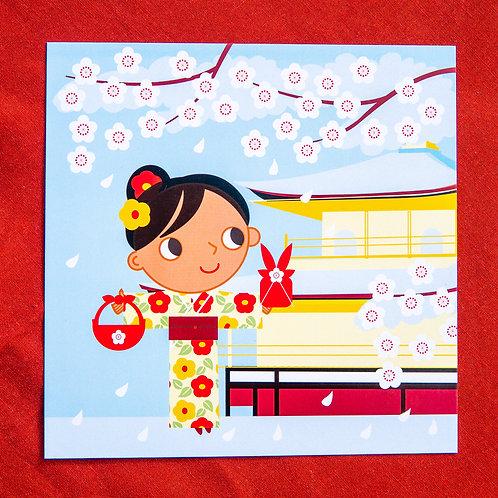 Zusetsu Snow Flower Postcard Pack