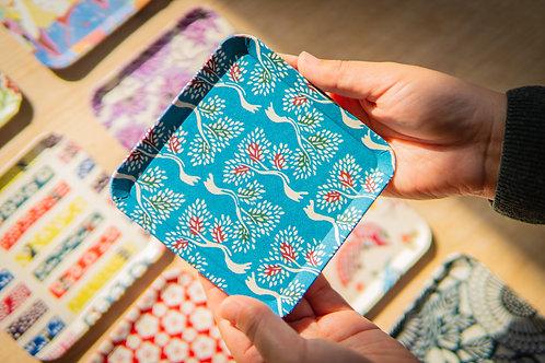 Kyoto Washi Paper Tray - Aoi