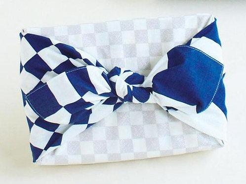 70cm Hare Tsutsumi Furoshiki | Checker Navy