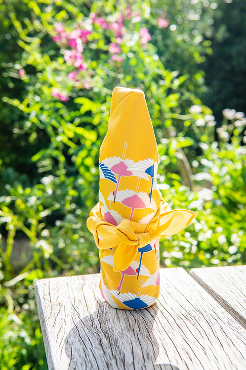 50cm Adeline Klam Organic Cotton Furoshiki | Crane Yellow