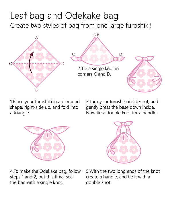 wholesale leaflet furoshiki leaf bag and