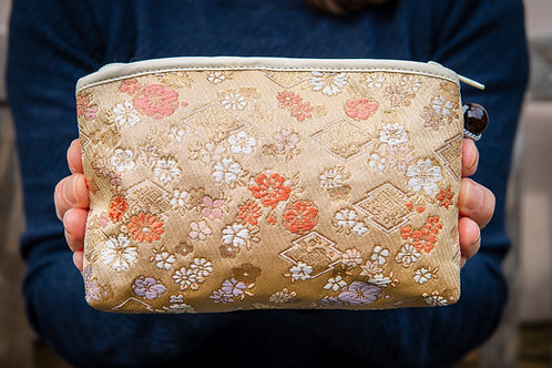 Kyoto Pouch - Amber Flower