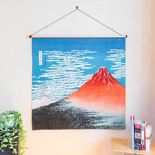 104cm Ukiyoe Furoshiki South Wind, Clear Sky by Hokusai