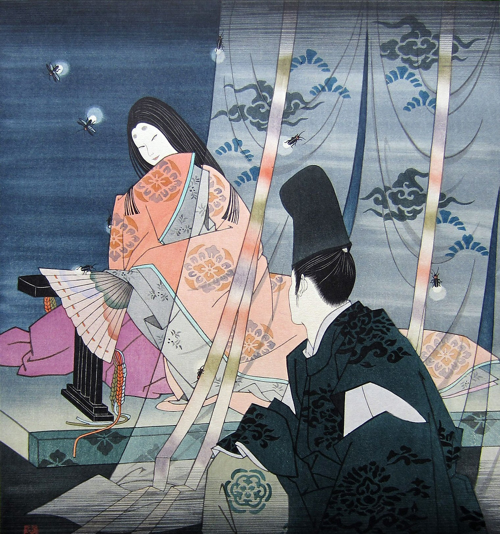 The Tale of Genji, Japanese art, ukiyoe, Japanese literature, Murasaki Shikibu