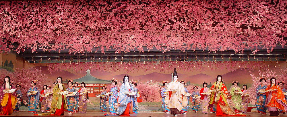 spring festival sakura cherry blossom geisha kyoto zusetsu store furoshiki