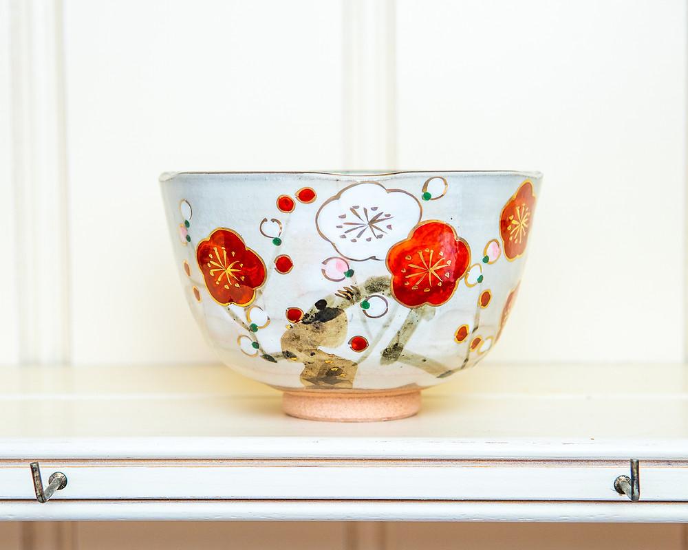 tea ceremony teabowl pottery Kyoto Kiyomizuyaki Zusetsu Store