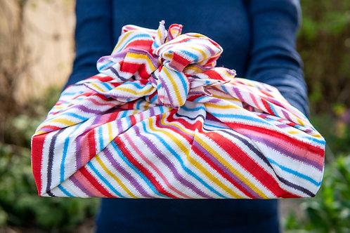 70cm Modern Girl Medium Furoshiki | Stripe Multi