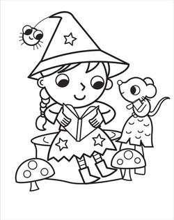 1.Witch reading spell book