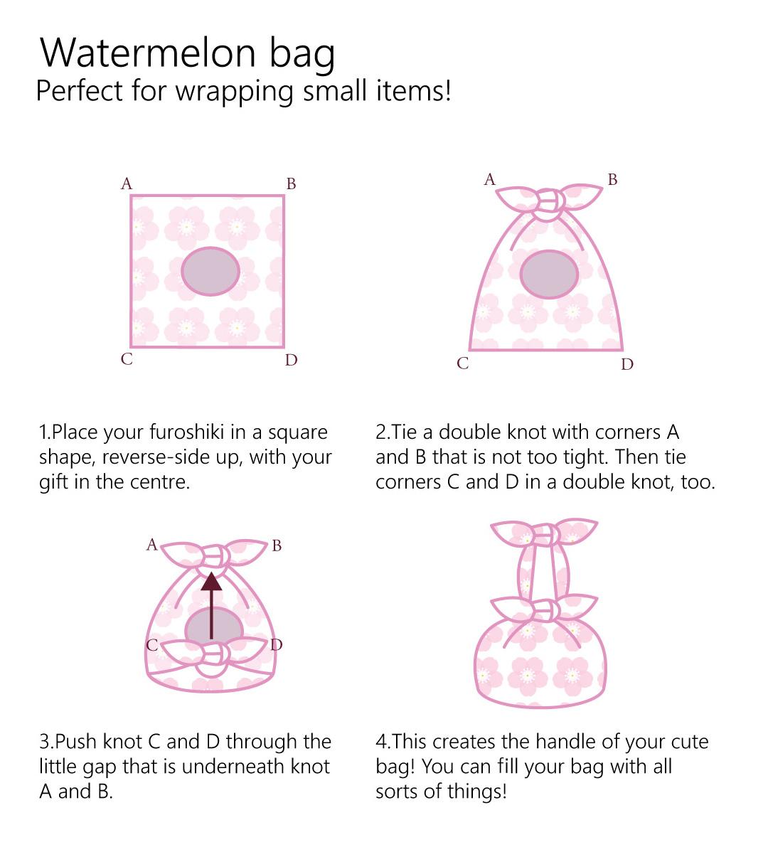furoshiki knotwrap bag