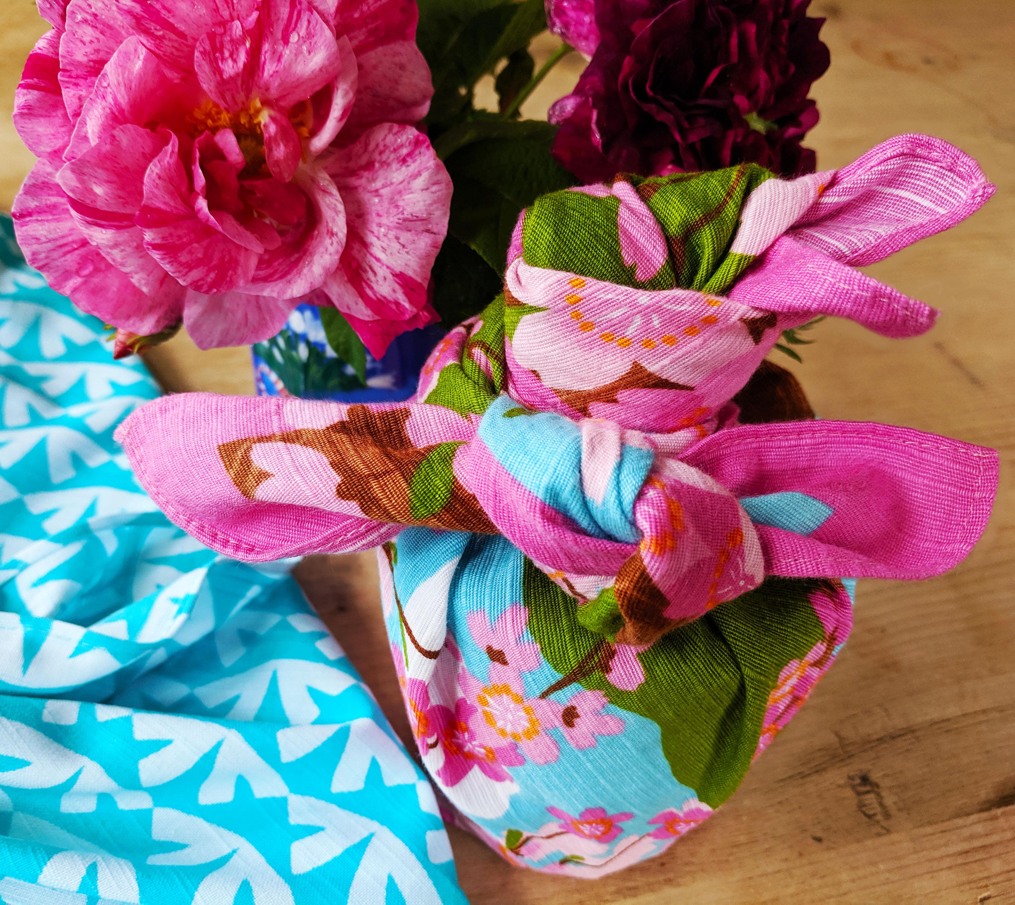 Japanese furoshiki fabric giftwrap