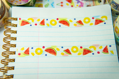 Washi Tape from Japan - Watermelon and PIneapple