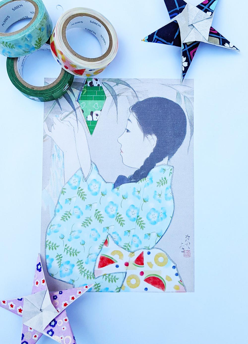 Zusetsu washi tape art