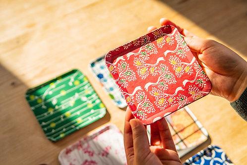Kyoto Washi Paper Tray - Akai