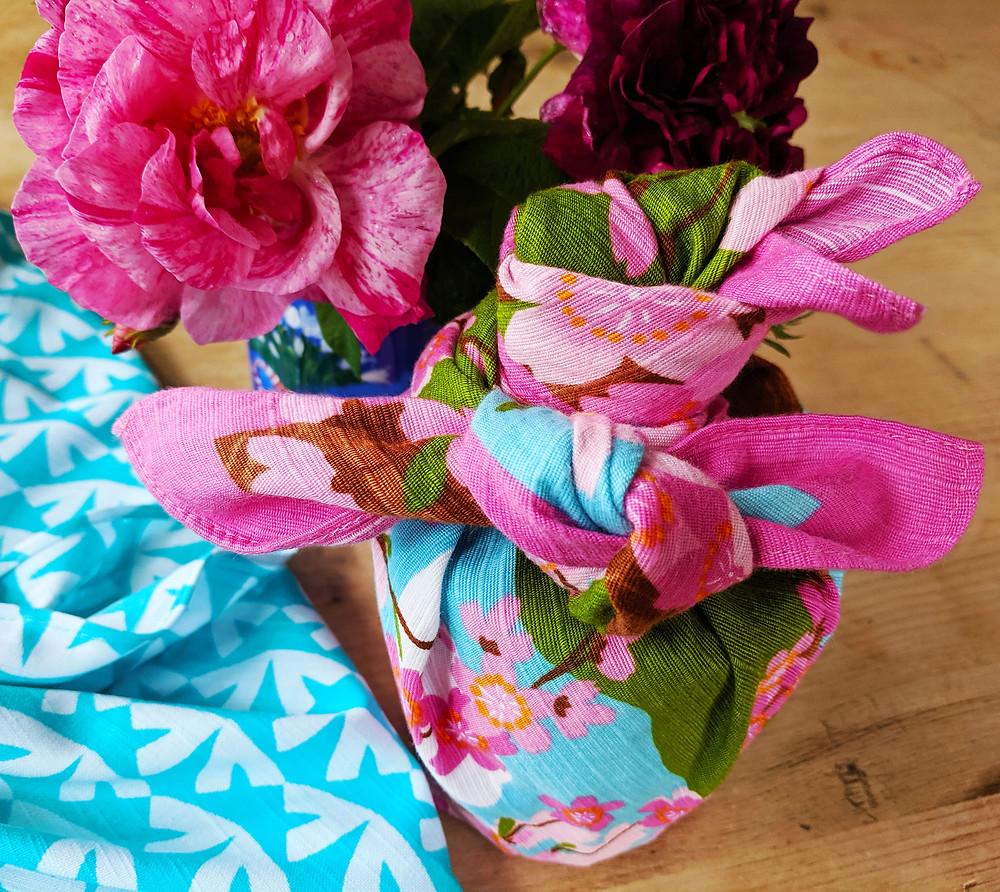 Japan Kyoto Etsy knot wrap furoshiki gift wrap wrapping cloth
