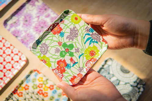 Kyoto Washi Paper Tray - Heian Flower