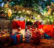 Christmas furoshiki giftwrap