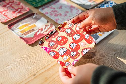 Japanese washi tray on table