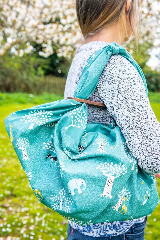 Zusetsu Store, furoshiki, furoshiki bag, bag, shoulder bag, eco, reusable