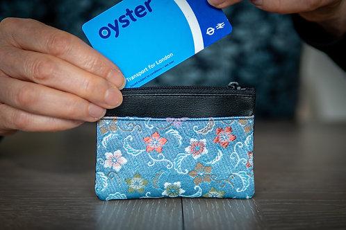Kyoto Card Case - Blue Star Flower