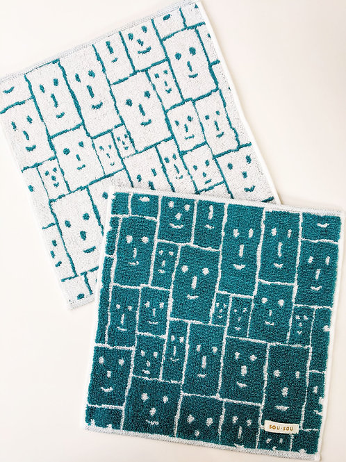 Kyoto Small Face Towel - Smile Green