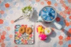 furoshiki and washi tray