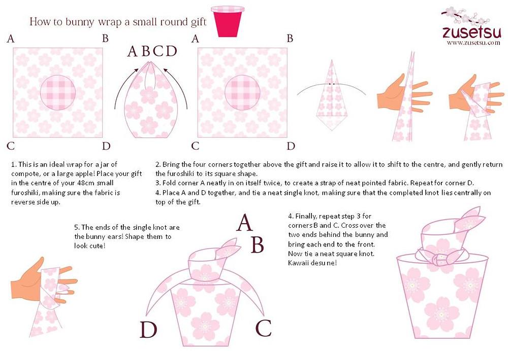 Kyoto Japan furoshiki bag gift wrapping cloth Etsy knot wrap knotwraps