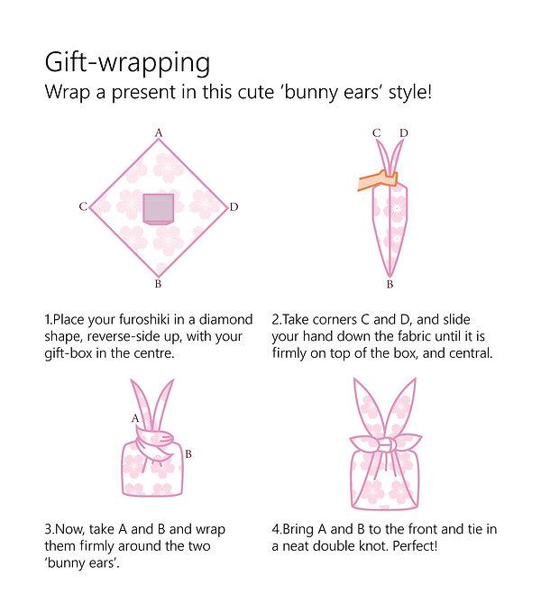 wholesale leaflet furoshiki bunny ears w