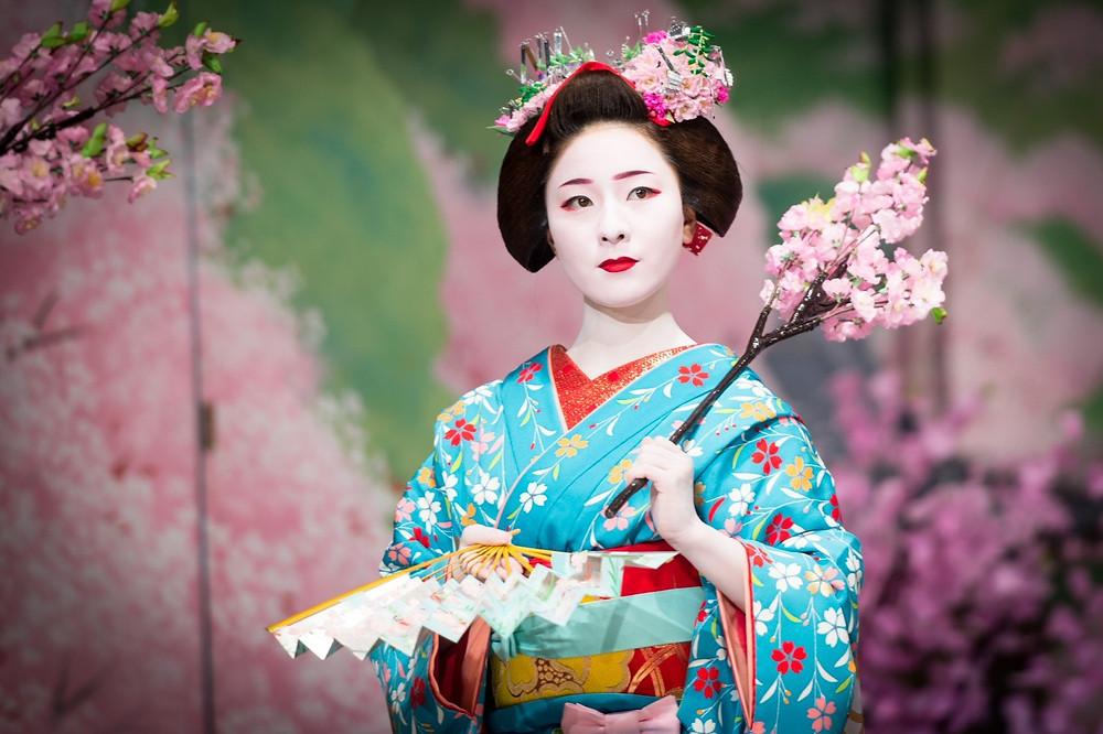hanami sakura cherry blossom geisha Kyoto Zusetsu store furoshiki