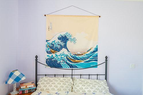Hokusai furoshiki wall art