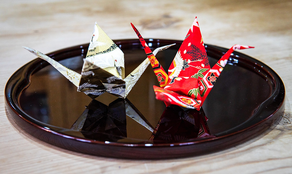 Japanese origami crane