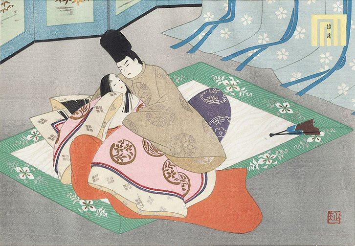 ukiyoe illustration from The Tale of Genji