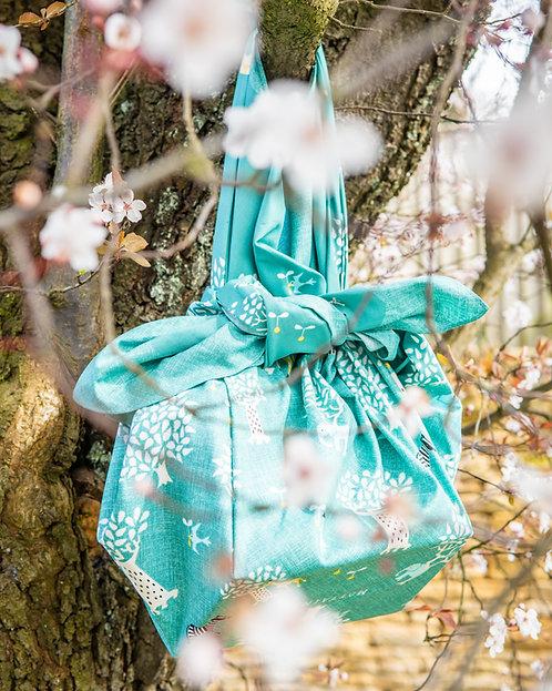 green eco furoshiki bag