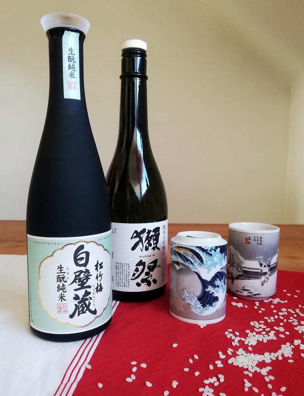 Zusetsu furoshiki bottle wrapping online event sake Japanese rice wine
