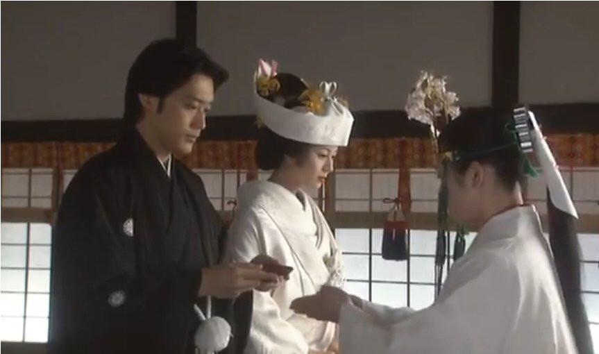 Japanese wedding, Zusetsu, sake, furoshiki