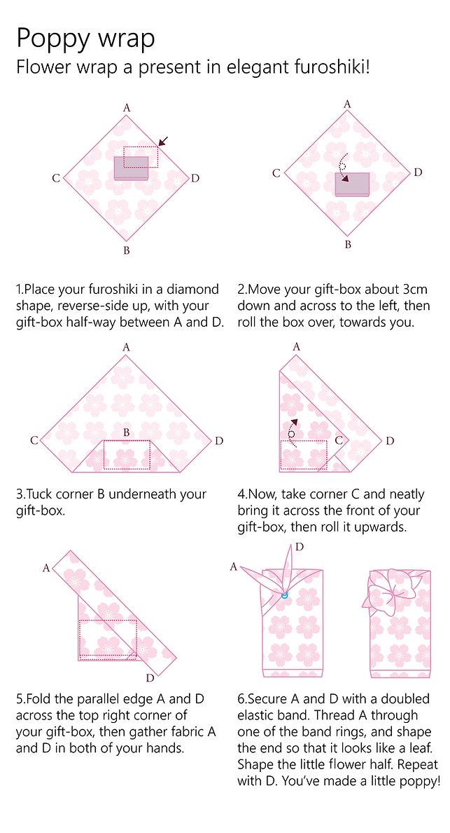 wholesale leaflet LAYOUT furoshiki POPPY