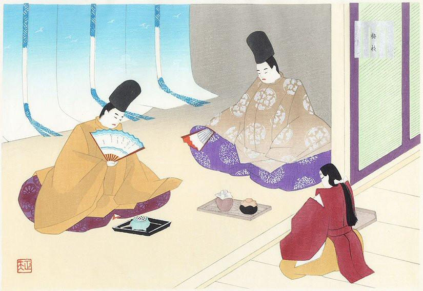 Zusetsu furoshiki store Japanese ukiyoe