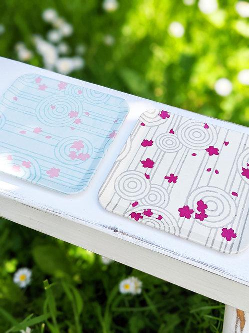 Kyoto Washi Paper Tray - Karesansui Garden White