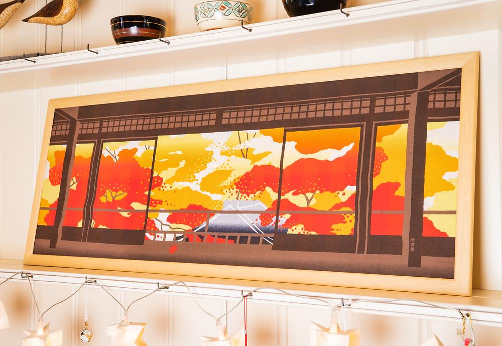 autumn tenugui wall art