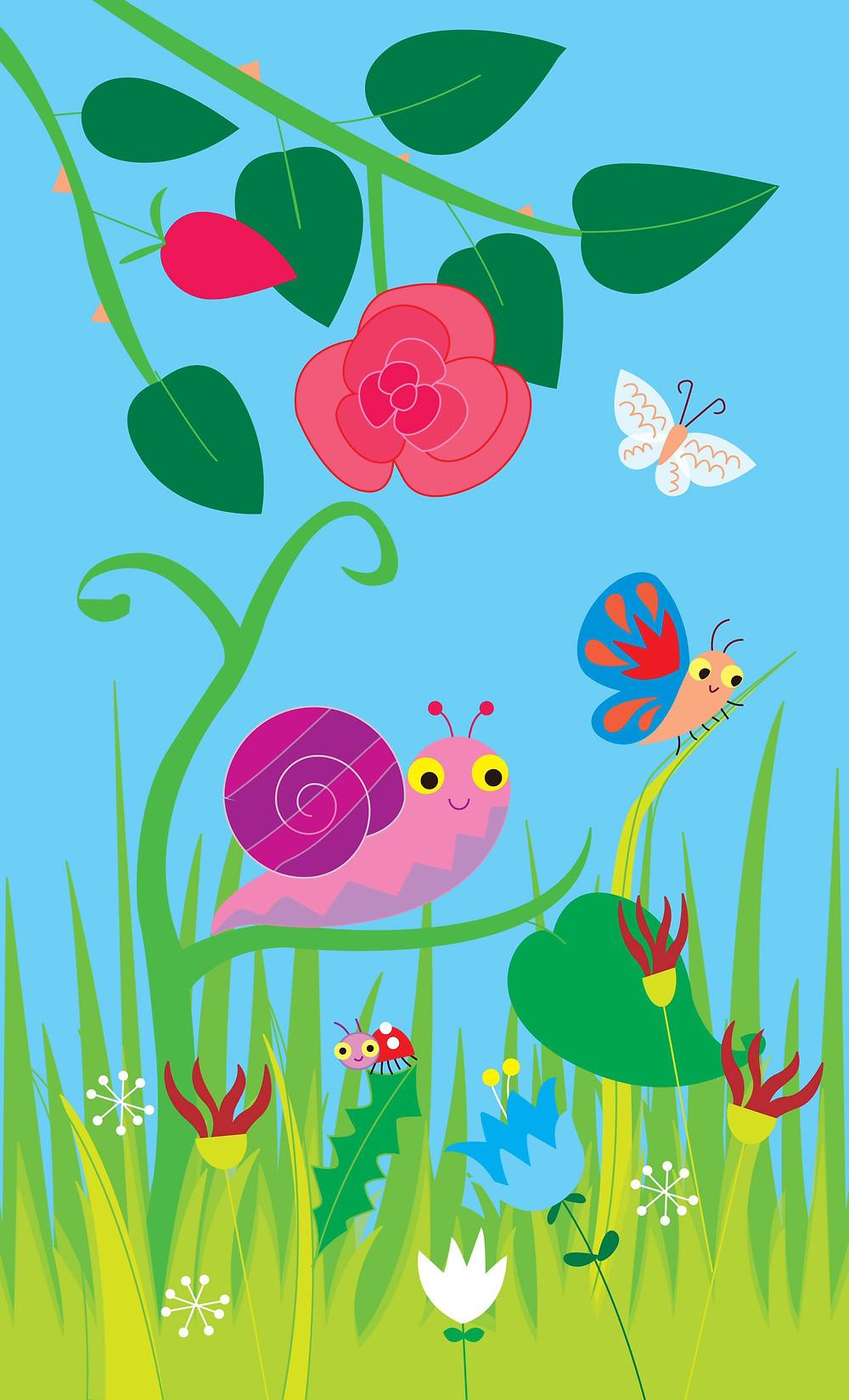 children's book illustration garden