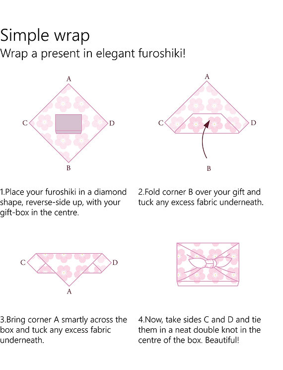 wholesale leaflet furoshiki simple wrap