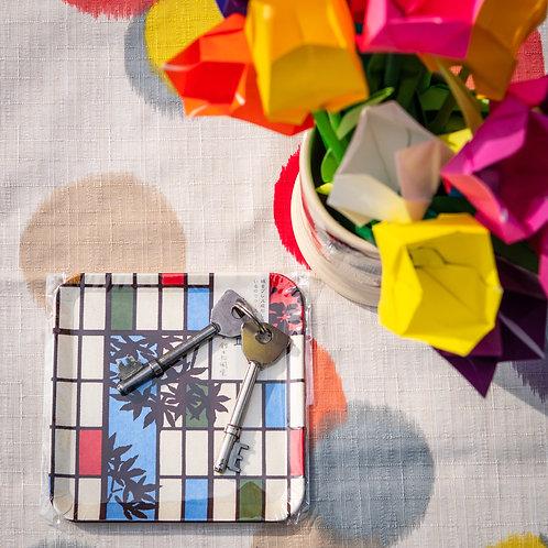 coaster on table