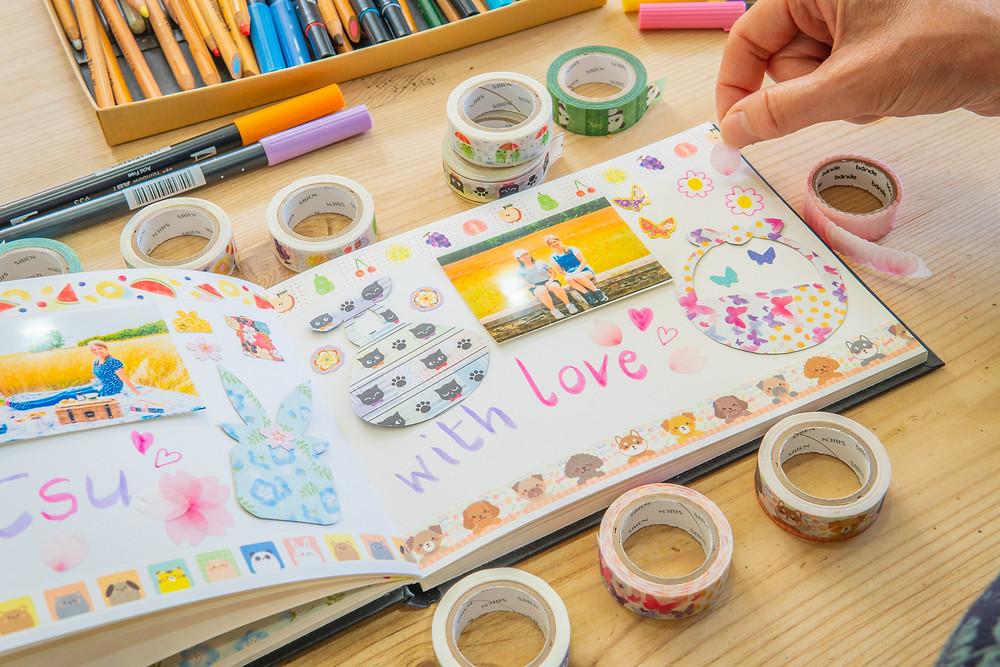 Zusetsu washi tape journal