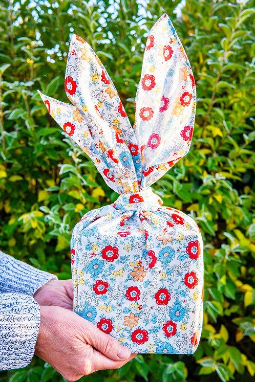70cm Cohare Furoshiki Mini Bouquet Red