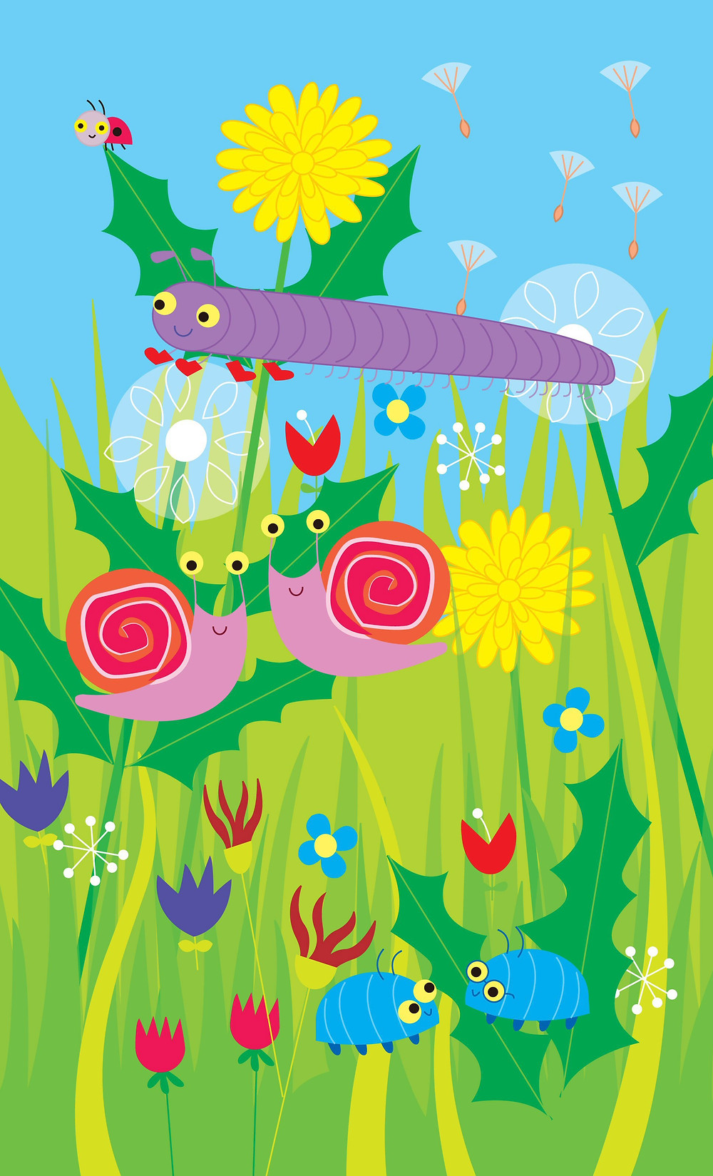 children's book illustration minibeasts