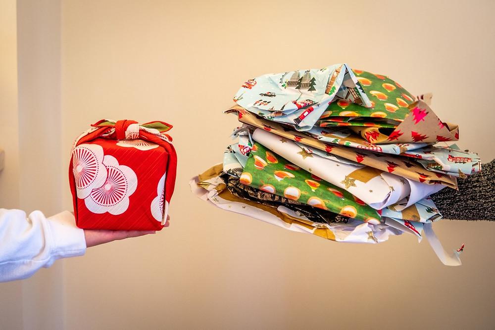 Christmas gift-wrap, Christmas present, Zusetsu Store, furoshiki