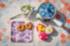 furoshiki and washi paper tray